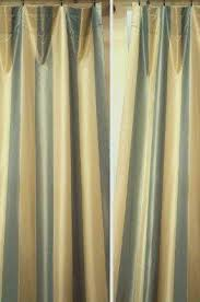 Yellow Faux Silk Curtains Silk Striped Curtains Luxury Faux Silk Heavy Fabric Jacquard