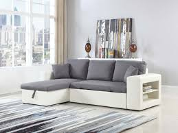 lolet canapé canapé d angle convertible et réversible allen luxe blanc