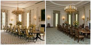 Color Schemes For Dining Rooms Michelle Obama Touches Up To The State Dining Room Soft Designlab
