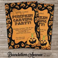 21 remarkable pumpkin carving party invitation card simple