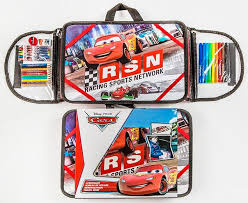 malette de bureau bureau d activité portable cars disney set de coloriage