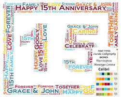 15th anniversary gifts personalized 15th anniversary 15th anniversary gift 8 x 10 print word