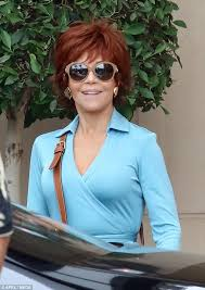 directions for jane fonda s haircut jane fonda sports striking new red hair colour daily mail online