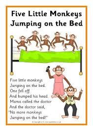 The Night The Bed Fell Best 25 Five Little Monkeys Ideas On Pinterest Five Little