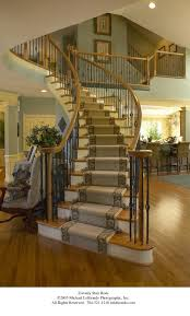 Free Standing Stairs Design Stair Rods Staircase Traditional With Banister Carpet Runner