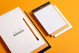 le de bureau orange rhodia basics le meeting pad le bloc dédié à la prise de note