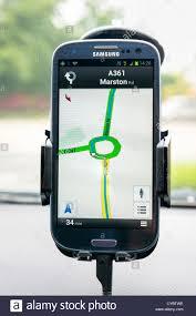 Google Maps Navigation Google Maps Sat Nav On An Android Samsung Galaxy S3 Smartphone