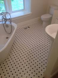 a classic black and white pinwheel tile ideas for the house