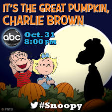 it s the great pumpkin brown will air on october 31st at