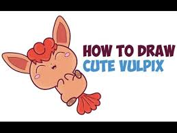 how to draw cute vulpix from pokemon kawaii chibi easy step by
