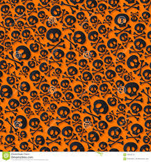 halloween background skulls cute black skulls and crossbones seamless pattern stock vector