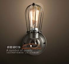 single sconce bathroom lighting 4 7 w11 8 h l industrial cage light marconi small cage single