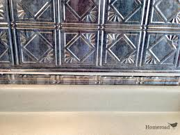 interior backsplash tile edge faux metal backsplash decorative