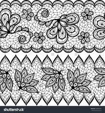 lace seamless pattern ornamental border stock vector 167849450