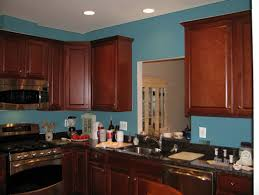Painted Blue Kitchen Cabinets Kitchen Paint Colors With Cherry Cabinets Pictures Kutsko Kitchen