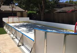 Backyard Ice Skating Rink Synthetic Ice Basement And Backyard Rink Kits Hockey Shooting
