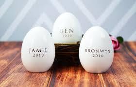 ceramic easter eggs set of 3 personalized ceramic easter eggs unique easter gift idea
