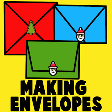 how to make your own envelope how to make your own envelopes for christmas kids crafts