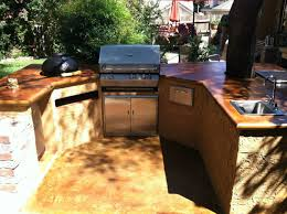Outdoor Kitchen Countertops by How To Acid Staining Concrete Countertops Directcolors Com