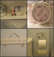 Simply Shabby Chic Bathroom Accessories by My Homemade Happiness Upstairs Bathroom Renovation
