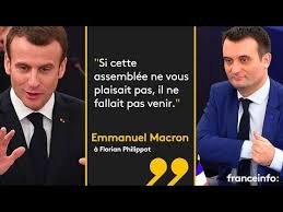 parlement europ n si e echange entre philippot et macron au parlement européen 17