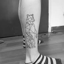 tattoo geometric outline 60 geometric bear tattoo designs for men manly ink ideas