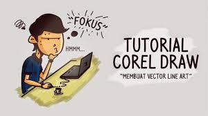 tutorial vektor dengan corel cara membuat vector lineart di coreldraw rizqi alam