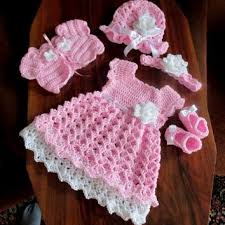 baby girl crochet crochet baby set baby dress bolero hat shoes and headband