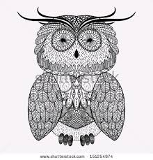 ornamental owl stock images royalty free images vectors