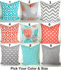 sale teal pillows turquoise outdoor pillow covers teal orange grey