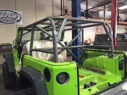 dark green jeep cj full roll cage install 2013 rubicon jeepforum com