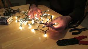 custom length christmas light strings how to remove an end plug from a christmas light string youtube