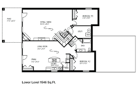 walkout basement floor plans small one story house plans with walkout basement archives