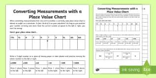 convert between different units of measure year 4 page 1