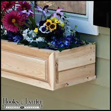 Wooden Window Flower Boxes - cedar window boxes raised panel cedar window box wood flower boxes