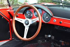 porsche black interior porsche 356 speedster replica red with red u0026 black interior