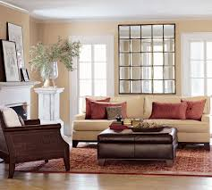 furniture modern living room decoration using red stripe rug