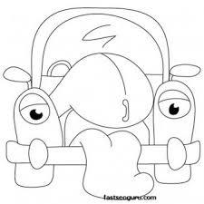 cartoon cars drawings coloring printable coloring pages