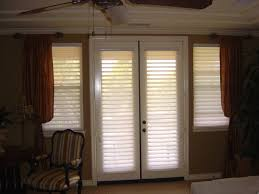 Roman Shade For French Door - interior sliding glass door with cream curtains having pinch