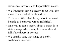 t scores and confidence intervals using the t distribution ppt