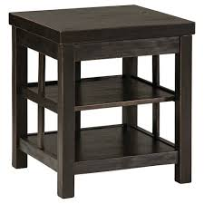 ashley gavelston end table gavelston square end table rubbed black signature design by