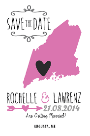 save the date invitations state wedding invitations save the date maine invitations by r2
