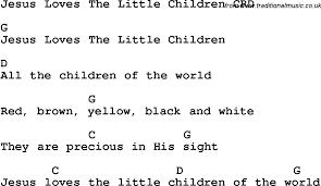 christian childrens song jesus the children lyrics