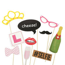 10pcs photo booth wedding props mustache mask props party queen