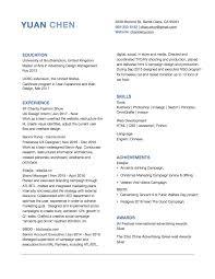 Resume Cv Online by Yuan Chen Ux Designer