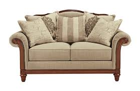 Ashley Furniture Chairs Loveseats With Wood Accents