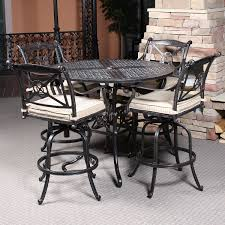 Patio Bar Height Tables Bar Height Patio Table And Chairs Patio Furniture Conversation