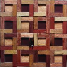 Wood Interior Wall Paneling Tst Wooden Squared Geometrical Mosaic Tiles Wall Home And Office