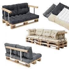 rembourrage coussin canapé en casa 1x coussin de siège pour canapé d une palette crème