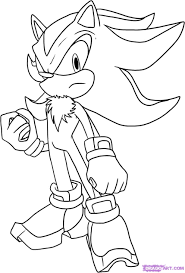 sonic the hedgehog shadow free coloring pages on art coloring pages